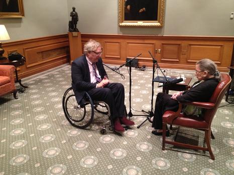 John Hockenberry with Supreme Court Justice Ruth Bader Ginsburg