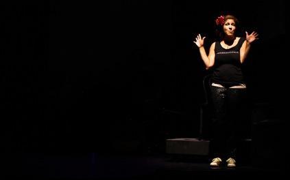 Rain Pryor on stage
