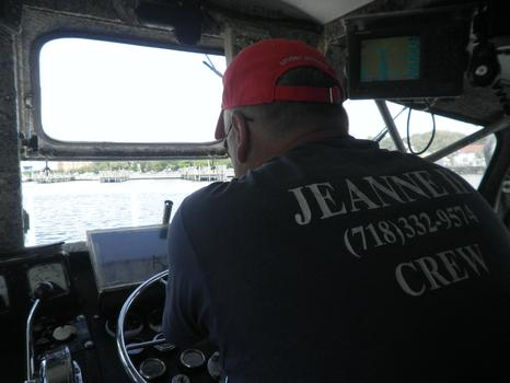 Martin Ficenes steering the Jeanne II