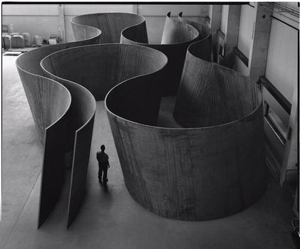 Richard Serra. Inside Out, 2013.  Weatherproof steel. 13 ft. 2 in. x 81 ft. 10 in. x 40 ft. 2 in. / 4.01 x 24.94 x 12.26 m