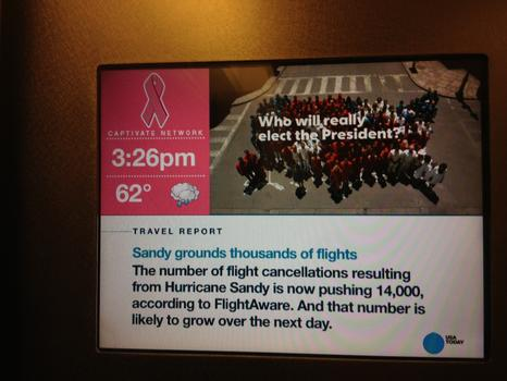 Flights were canceled in the run-up to the storm.