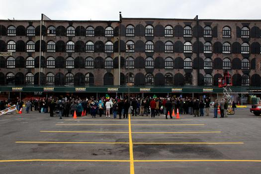 The newly reopened Fairway in Red Hook is housed in a Civil War-era bulding.