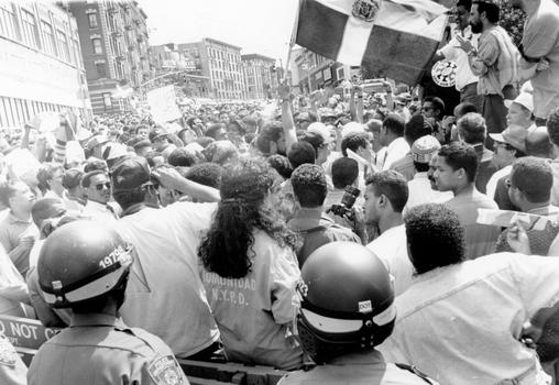 After the riots, people of all cultural backgrounds also took to the streets of Washington Heights to call for peace, safety, and justice.