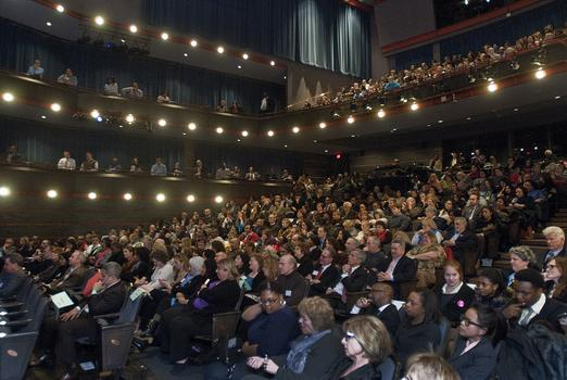 "The crowd at ""Which Way NJ: School Reform in Newark"" forum at NJPAC"