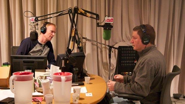 John Schaefer and composer Bill Ryan