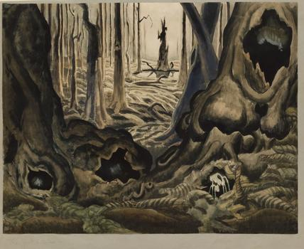 "Charles Burchfield, ""Firsthepaticas,"" 1917-18"