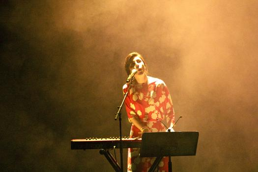 Julia Holter performs in the BAM Howard Gilman Opera House on the first day of the 2013 Crossing Brooklyn Ferry festival.