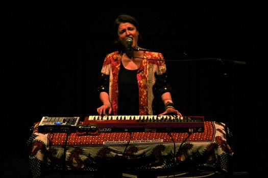 Composer, producer and performer (and also a member of The Dirty Projectors) Olga Bell, performs in the BAM Rose Cinemas on the first day of the 2013 Crossing Brooklyn Ferry festival.