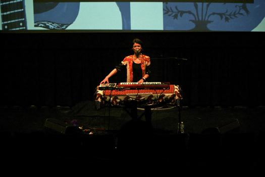 Olga Bell performs in the BAM Rose Cinemas on the first day of the 2013 Crossing Brooklyn Ferry festival.