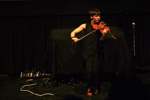 Sarah Neufeld performs in the BAM Rose Cinemas on the first day of the 2013 Crossing Brooklyn Ferry festival.