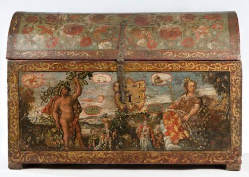 Peruvian Leather Bound Chest at Brooklyn Museum of Art