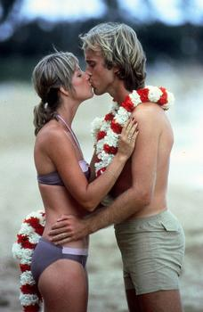 Chris Evert and her first husband, John Lloyd, in Maui. This photograph appeared in Time Magazine.