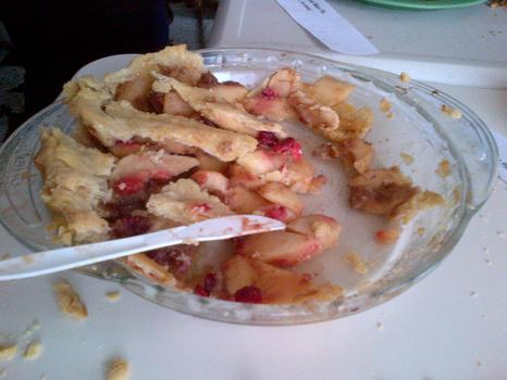 One of two apple cranberry pies entered in the Throw-Down.  It wasn't Khrista Rypl's second place winner.