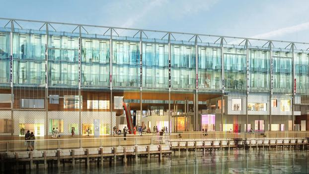 Architectural rendering of the design for Pier 17