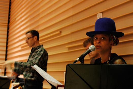 Erykah Badu, hearing the new arrangements of her songs from her 2008 album 'New Amerykah Part One' for the first time.