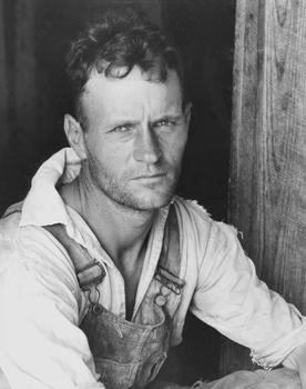 Walker Evans. Floyd Burroughs, Sharecropper, 1936.