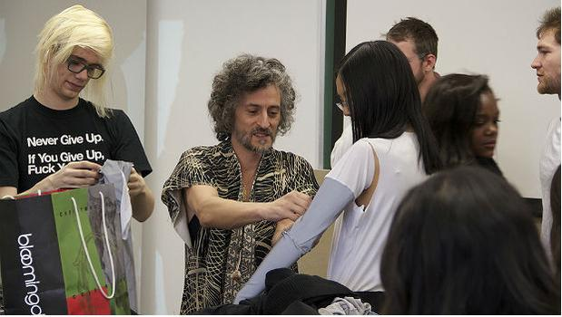 Fashion designer Gabi Asfour teaches the class at the Parsons School of Design