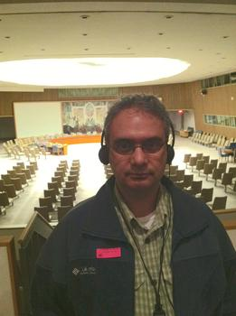 Dr. Hadi Yaziji inside the United Nations.