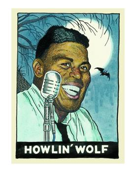 Howlin' Wolf, as depicted by William Stout in 'Legends of the Blues'