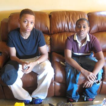 Friend Jermaine Ferguson, 17, and cousin, Arnold Levine, 14.