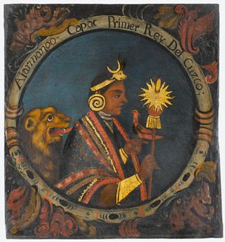Painting of Incan Royalty at Brooklyn Museum of Art