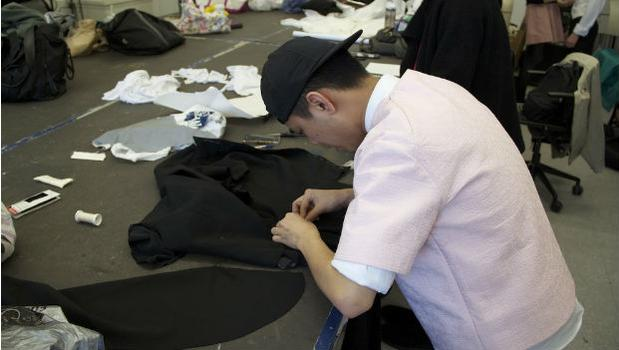 Parsons student adds stretchable fabrics to an otherwise traditional tux jacket