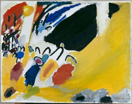 Vasily Kandinsky. Impression III (Konzert) [Impression III (Concert)]. 1911. Oil on canvas, 30 7/8 x 39 9/16″ (77.5 x 100.5 cm).