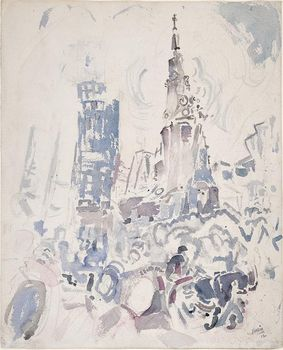 "John Marin, ""St. Paul's, Lower Manhattan (Broadway, St. Paul's Church),"" 1912"