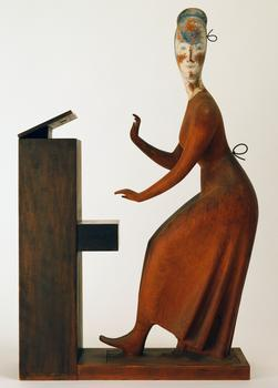 "Elie Nadelman, ""Woman at Piano,"" 1920-4"