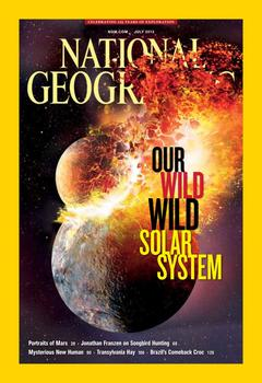 July issue of National Geographic magazine.