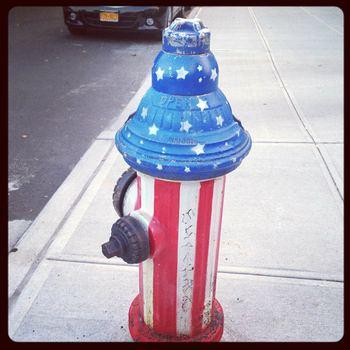 A patriotic hydrant, 177 Skillman Ave., Williamsburg