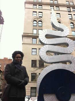 Arrechea and his take on the Chrysler Building