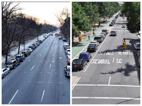 NYC added more than 400 miles of bike lane under Mayor Bloomberg, none more contentious than along Prospect Park West, Brooklyn.