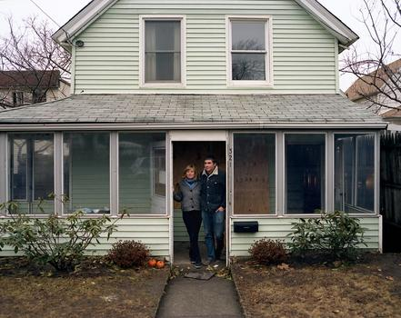 Jeremy Jones and Clare Hilger, Rockaway Beach, NY, December 2012