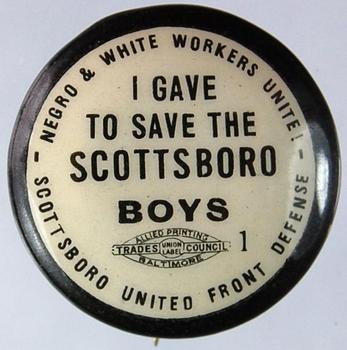 Scottsboro support pin from the 1930s. (Andy Lanset Collection)