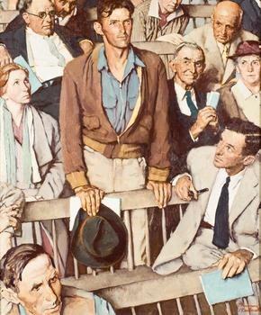"Norman Rockwell. Study for ""Freedom of Speech"""