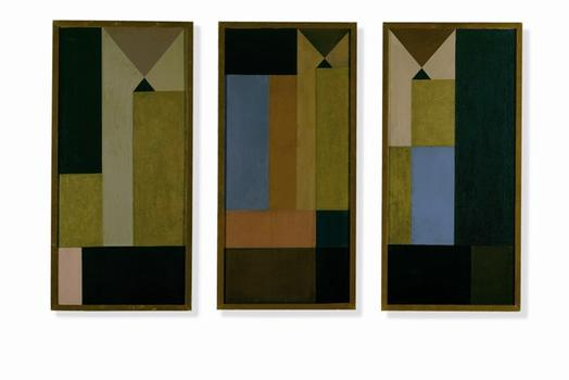 Sophie Taeuber-Arp. Untitled (Triptych).1918.