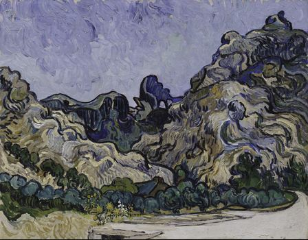 "Vincent van Gogh, ""Mountains at Saint Rémy"" (Montagnes à Saint-Rémy), 1889"