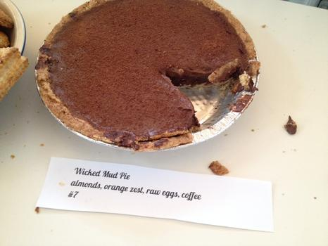 "The ""Wicked"" spicy chocolate pie.  Pastry Chef and judge Jacques Torres was not swayed."