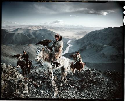 Jimmy Nelson. Kazaks,from Mongolia. Idrish, Khairatkhan, Nurkairath & Bashakhkan. Ulaankhus, Baglan Oglii. March 2011.