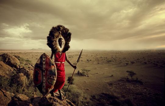 Jimmy Nelson. Masaai, Tanzania. Sarbore. Serengeti. November 2010.