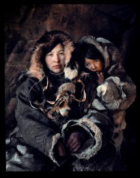 Jimmy Nelson. Chukchi, from Russia. Oxana Teyunrultett & Olesya Etguet, Second Brigade. Chukotka. 2012.