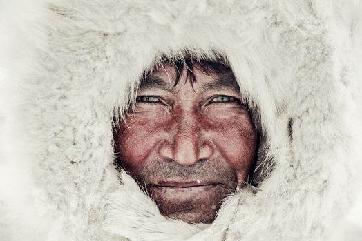 Jimmy Nelson. Nenets, from Siberia. Yakim, Brigade 2, Nenet. Yamal Peninsula, Ural Mountains. March 2011.