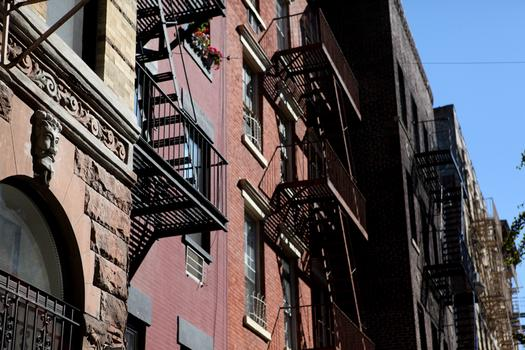 An example of the tenements in the East Village, which are being preserved for their unique character.