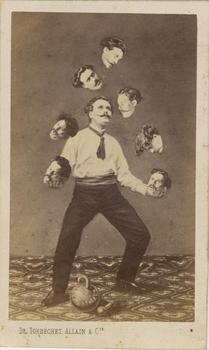 Unidentified artist. Man Juggling His Own Head