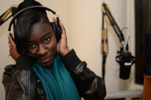 Tangeneka in the studio