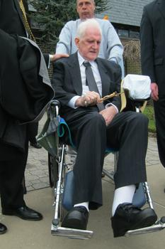 James McCormick after the funeral for his longtime partner.