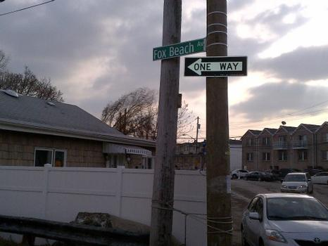 NYC Department of Buildings Inspectors walked along Fox Beach Avenue in Staten Island checking homes for safety issues.