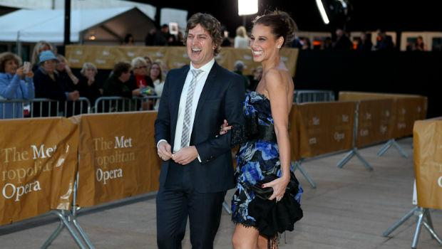Rob Thomas of the band Matchbox Twenty arrives at the Metropolitan Opera on opening night