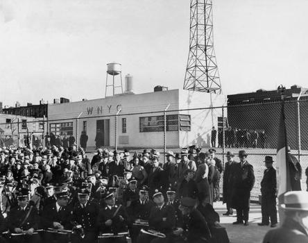 October, 1937 Opening Ceremonies for the WNYC Transmitter in Greenpoint, Brooklyn.
